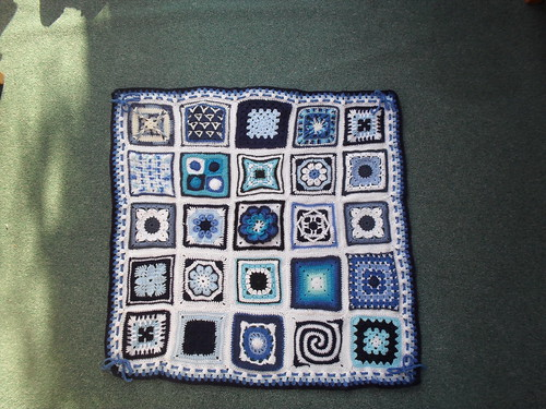 Ta - Dah! Introducing SIBOL No. 27 'Blue and White' (3) 'Blue Beauty' -named by Salma. '{Please add note to your Square!'