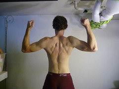 Rock-climbing builds muscle