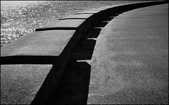 Stanley Park Seawall - Vancouver (JWPhotowerks) Tags: blackandwhite vancouver concrete englishbay stanleypark