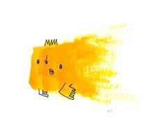 a yellow fish.
