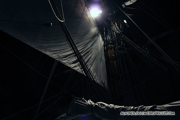 The opened sails