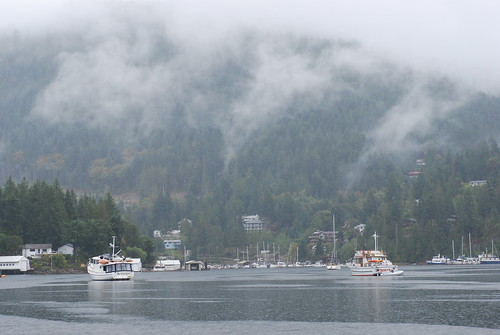 Pender Harbour in the rain