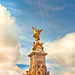 Cuba Gallery: England / London / Buckingham Palace / Queen Victoria Statue / angel / sky / clouds / blue / photography