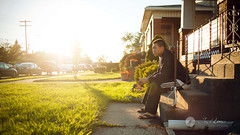 141/365 - stuck. (Joel Lim | joellim.com) Tags: sunset sun house selfportrait 35mm nikon warm bright steps 365 141 rimmed project365 35mmf20d d700 joellim shutterdpictures
