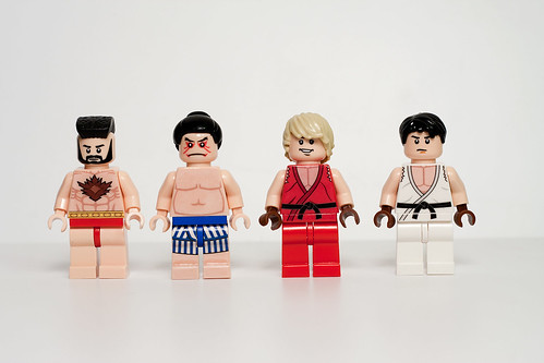 Custom minifig Street Fighter custom minifigs.