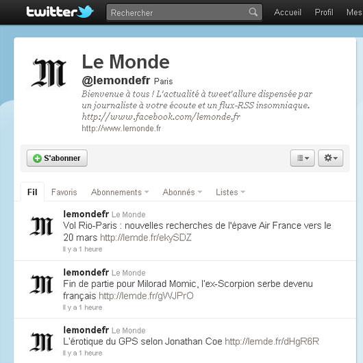 Le Monde Twitter