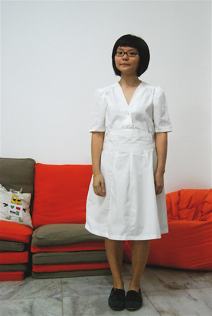 swing dress muslin mock-up