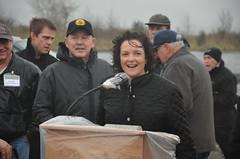 Paula Hammond (WSDOT) Tags: bridge rain washington construction wind aberdeen 520 pontoon groundbreaking jcc graysharbor sr520