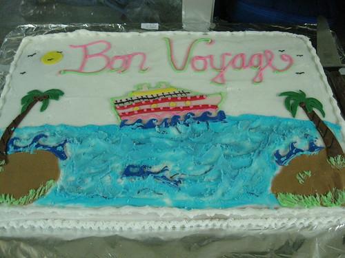 Bon Voyage Retirement Cake