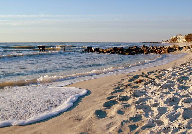 impromptu beach visit