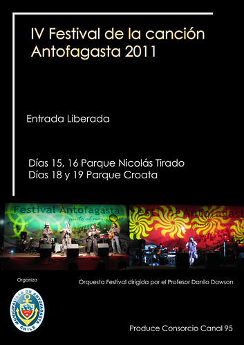 Flyer Festival Antofagasta 2011