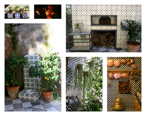 My mother's kitchen and wood fire oven