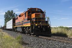 PNWR Switcher (Tom Trent) Tags: gp392 emd diesel locomotive pnwr portlandandwestern lanecounty oregon eugene oregonelectric switcher rail railroad train philomath