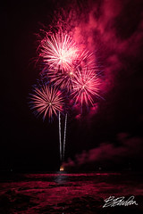 FIreworks in Kailua Bay (bodiver) Tags: hawaii night fireworks black kailua