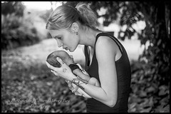 A mothers Love (THE SMOKING CAMERA HeRvEy BaY davefryer) Tags: baby newborn chid mother bw black white maternity canon5dmk4 50mm nik software herveybay frasercoastphotographer