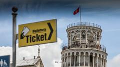 care for a tour? (bmp | bruno martins photography) Tags: monument pisa tower blue sky azul céu torre italy itália