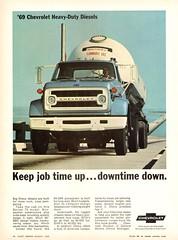 1969 Chevrolet Series 70 Diesel Tanker Truck (aldenjewell) Tags: 1969 chevrolet series 70 diesel truck tanker trailer ad coe