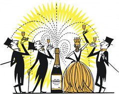 El champagne y las mujeres