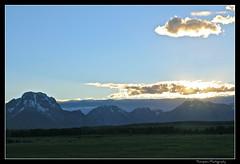 Burst (MET Pic's) Tags: sunset mountains tetons
