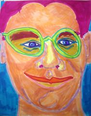 Peachy Skin: 2007.05.12 (Julia L. Kay) Tags: sanfrancisco portrait selfportrait art face pen self sketch san francisco artist arte julia kunst magic autoretrato kay felt daily brush dessin peinture portraiture marker 365 everyday dibujo artista artiste magicmarker knstler tombow feltmarker brushmarker juliakay penwa julialkay