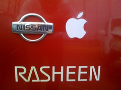 Rasheen with Apple sticker (tani5016) Tags: apple car sticker iphone rasheen