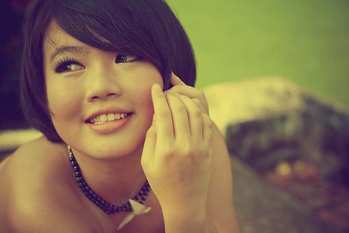 フリー写真素材, 人物, 女性, アジア女性, ショートヘア, シンガポール人,