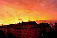 After The Storm (FVDB Photography) Tags: sunset orange storm clouds dusseldorf dsseldorf regen sturm oberbilk