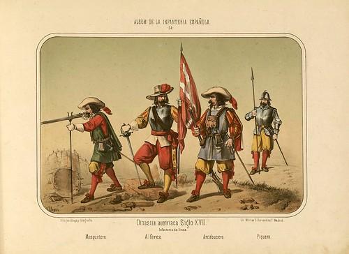 007- Álbum de la Infantería Española..-1861- conde de Clonard