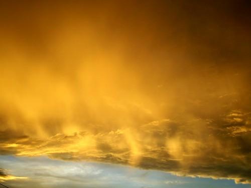 firey clouds