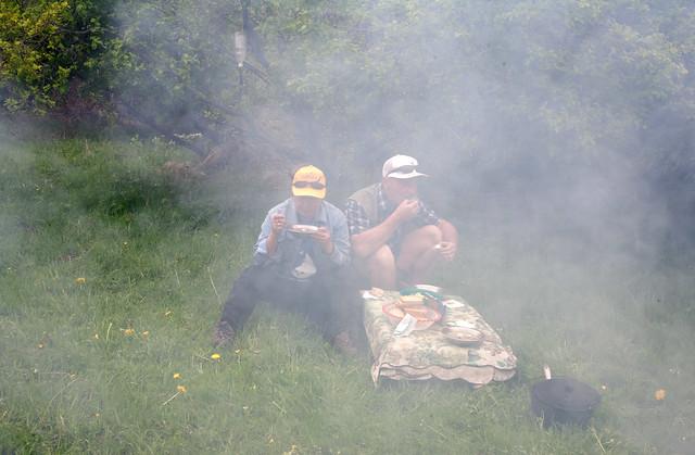 Lunsj i røyken