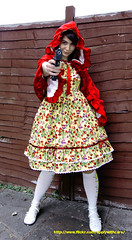 I'll pop a glock in your mouth (inject and infect) Tags: red white girl yellow socks fence high ribbons gun country meta gothic barrel riding lolita cape hood egl elegant knee straps glock metamorphose woolf