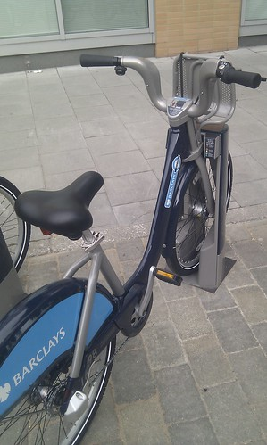 Boris bike in Park Street