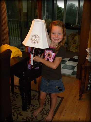 She loved her lamp w/ a peace sign.