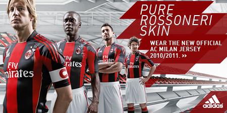 AC Milan adidas 2010/11 Home Kit / Jersey