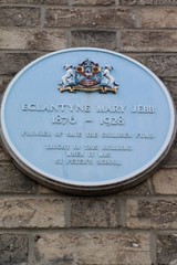 Photo of Eglantyne Mary Jebb blue plaque