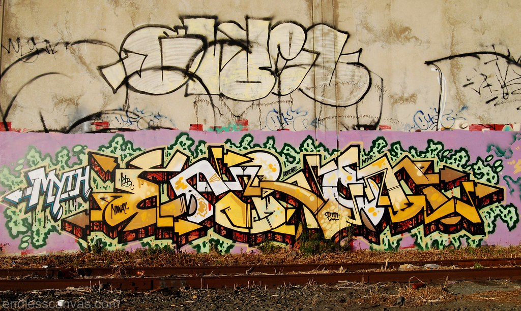 ENRON, GRUEL Graffiti East Bay CA.