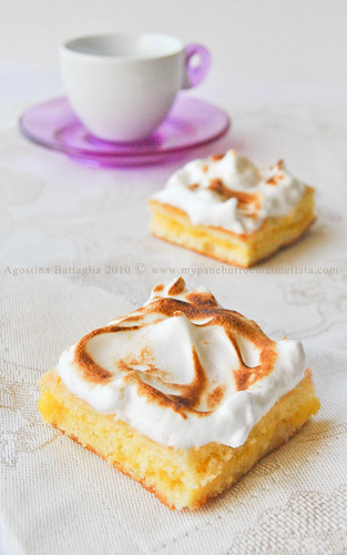 mini chiffon cakes al limone meringate