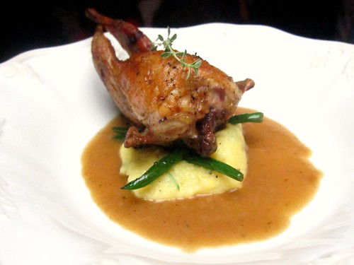 Foie Gras and truffle-stuffed quail