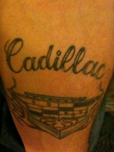 cadillac tattoo. Cadillac tattoo