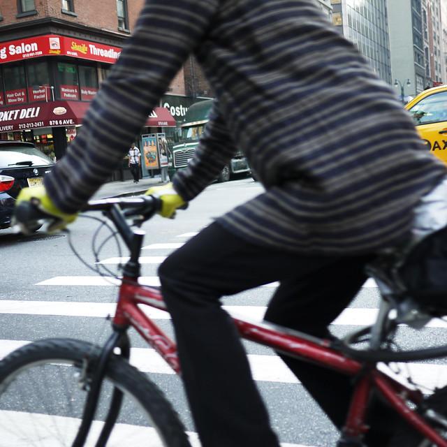 biker flying by #walkingtoworktoday