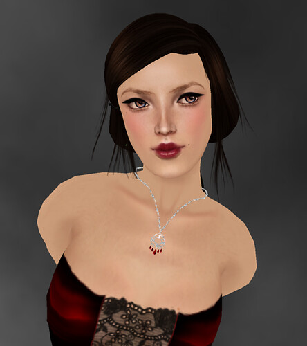 [K~*~S] Antigone - Necklace - Silver - Ruby one of the gift of the Lucky Dip on Kouse's Sanctum