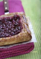 Fruit Pastry - Cranberries Puff Pastry Tartellette