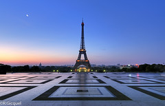 Trocadero (Paris) (renan4) Tags: morning blue paris france sunrise nikon hour toureiffel nikkor trocadero 1224mm manfrotto d80 kartpostal renan4 renangicquel