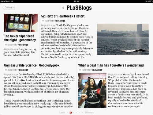 PLoS Blogs on Flipboard
