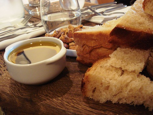 Bread, nuts and oil