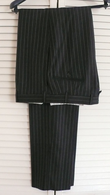 BB Black Fleece (by Thom Browe) charcoal pinstripe suit