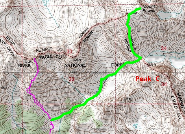 Correct Mt. Powell Route