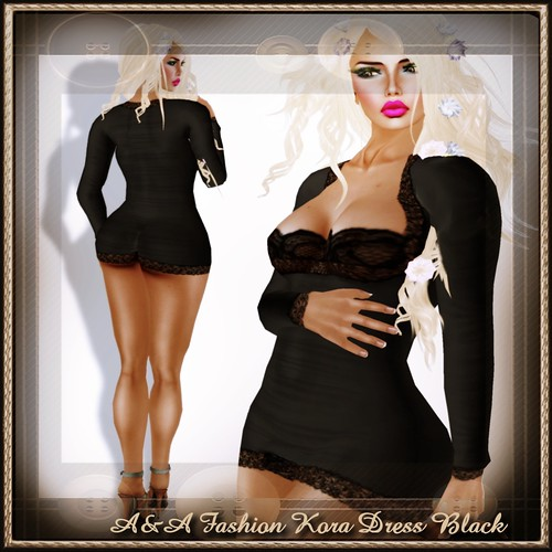 A&A Fashion Kora Dress Black