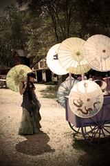 Parasol Vendor (Sweet Freak) Tags: costume parasol renfest pittsburghrenaissancefestival