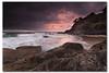 Morning Glory (danishpm) Tags: pink seascape beach clouds sunrise canon rocks australia wideangle qld aussie aus 1020mm manfrotto snapperrocks sigmalens rainbowbay eos450d 450d sorenmartensen tweedarea hitechgradfilters 09ndreversegrad